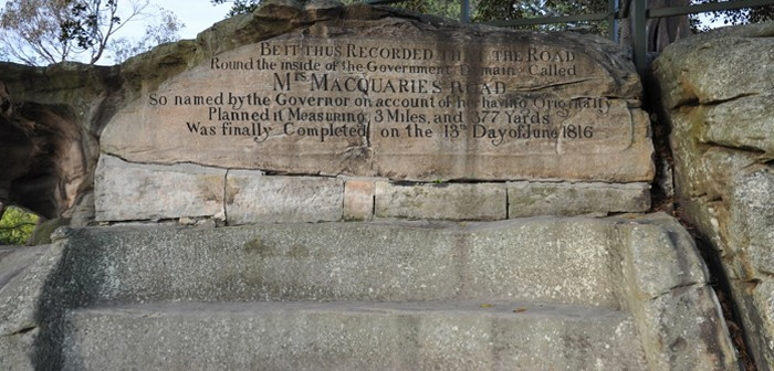 Mrs Macquaries chair was carved by convicts - Sydney, New South Wales