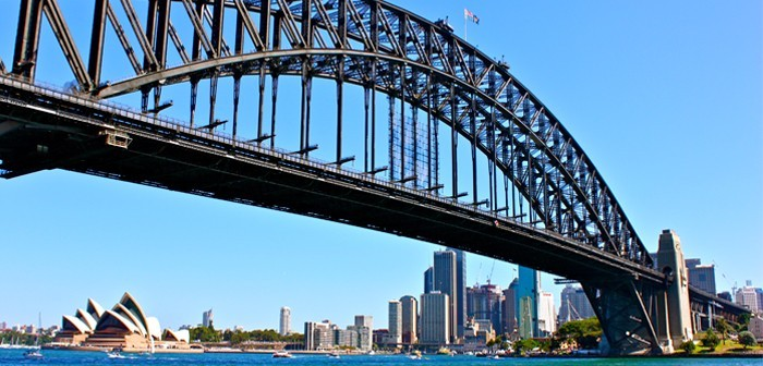 Sydney Harbour from the North Shore with views of the Sydney Harbour Bridge, Opera House and Sydney skyline