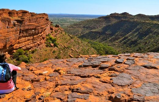 View from Kings Canyon in the Northern Territory, Australia