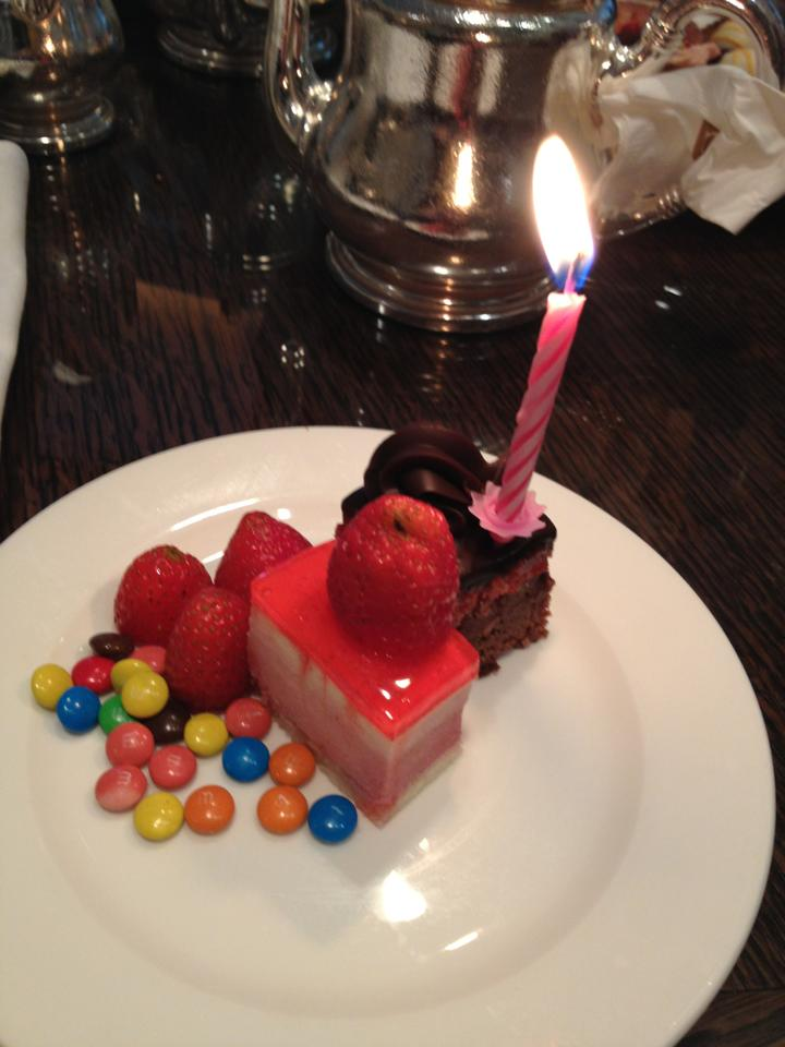 Birthday cake at the Langham Hotel, Melbourne