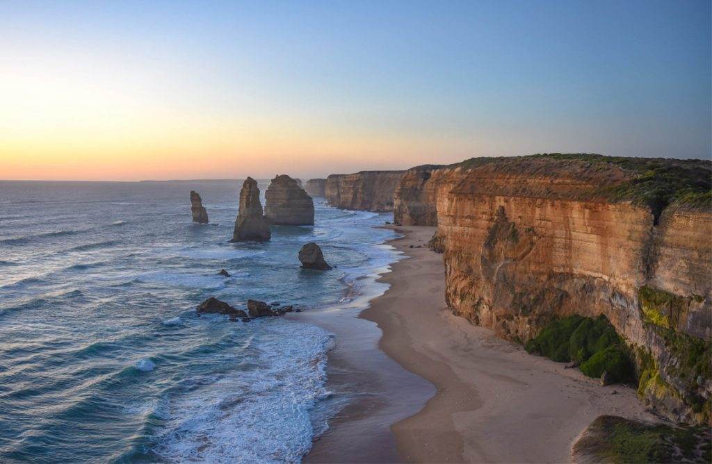 The Twelve Apostles on the Great Ocean Road in Port Campbell, Victoria